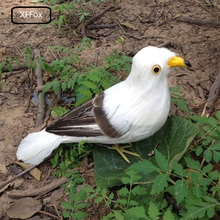 cute real life seagull model foam&feather standing bird gift about 28cm xf0014