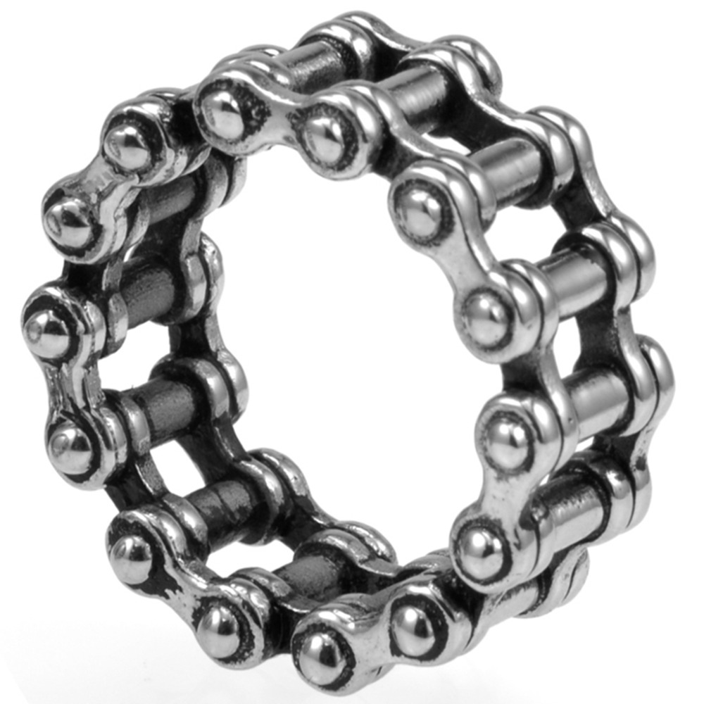 b7e60eec7f99d US $4.24 15% OFF|Size 7 15 Stainless Steel Biker Ring Chain Linked Punk  Motor Cycle Rider Jewelry Cocktail Graduation Extreme Sports Fashion-in  Rings ...