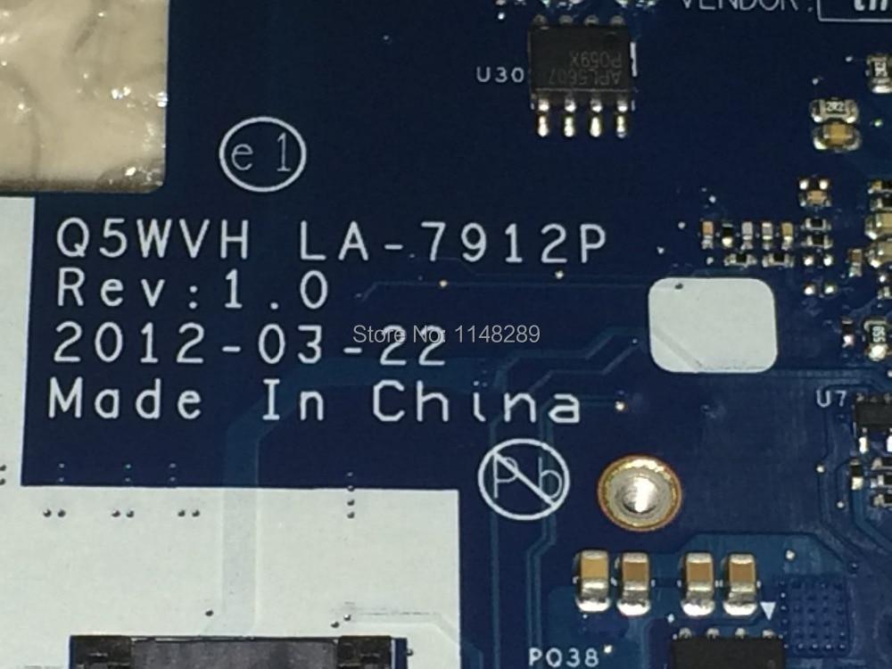 WOKRING + Free Shipping Stock laptop Motherboard For Gateway NE56R , NBC1F11001 Q5WVH LA-7912P