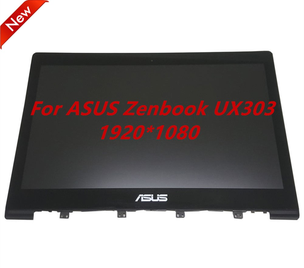 (1920*1080) 13.3 Full HD For Asus Zenbook UX303 UX303LA DB51T LCD LED Display Touch Assembly Screen With Frame Bezel