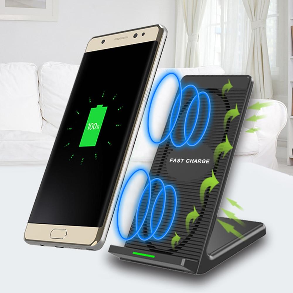 VOGROUND Double Bobine Qi 3.0 Sans Fil Chargeur 10 W Ventilateur Rapide De Charge Pad Pour iPhone X 8 8 Plus Pour Samsung Galaxy S7 S8 S8 + S6 bord