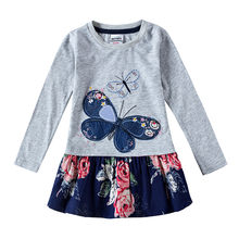 3658ff73b7ec63 2 kleuren retail baby meisjes japon kinderen nova kids vlinder kids jurken  meisjes nova babykleding herfst kids kind jurken