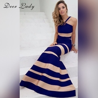 Deer Lady Spring 2019 Dress New Fashion Halter Bandage Dress Bandage Dress Bodycon Mermaid Maxi Dresses Wholesale HL