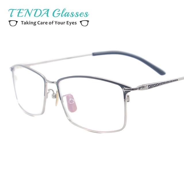 025f69d2aac Men Big Rectangular Eyeglasses Full Rim Metal Fashion Spectacles For Myopia  Reading Prescription Multifocal Lenses