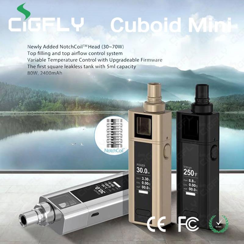 100% Original Joyetech Cuboid Mini kit 80w 5ml 2400mAh Electronic Cigrettes E-cigarette TC Set