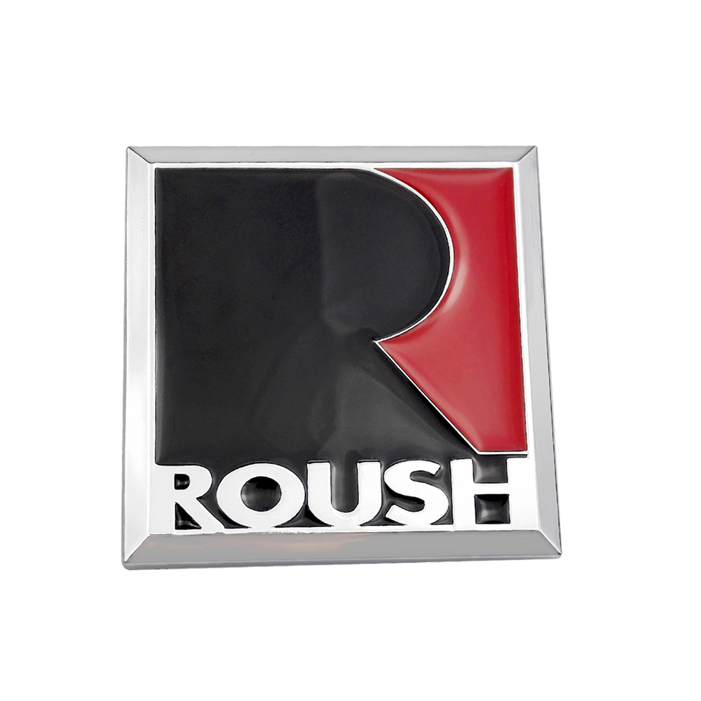 3D Metal R Roush Sticker Rear Trunk Decals Badge Emblem Auto Accessories For Ford Focus Mondeo Kuga Fiesta Escort Mustang Shelby