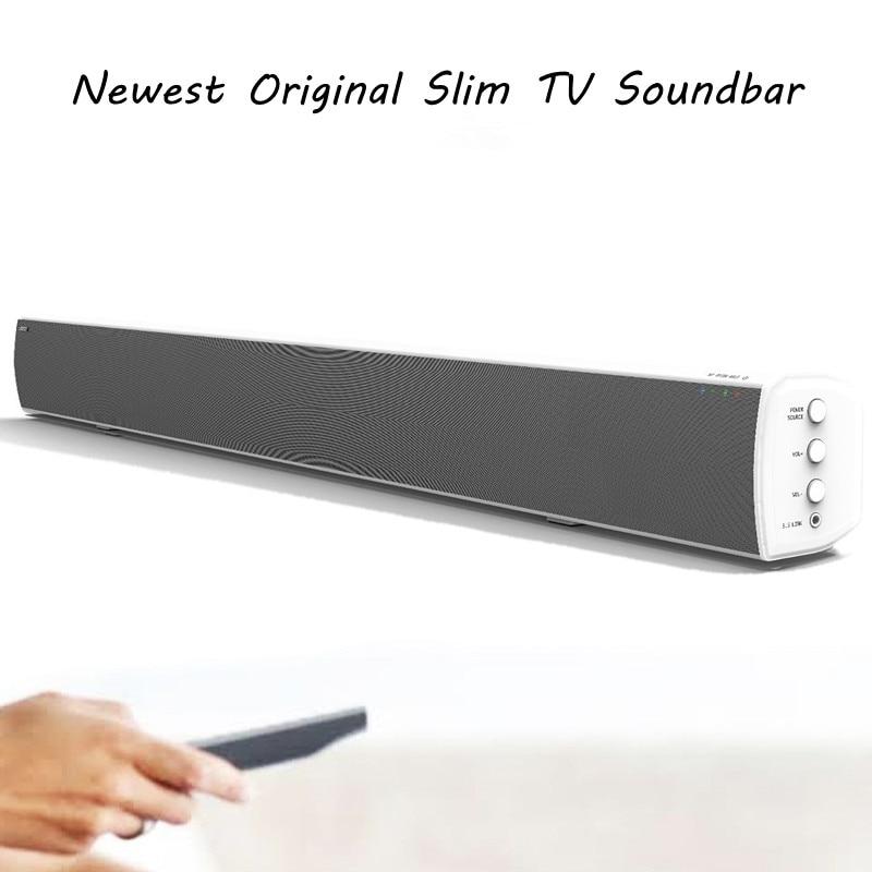 LONPOO Cheapest TV Soundbar Bluetooth Speaker 40W Deep Bass Subwoofer Home theater TV Soundbar with Optical Coaxial for LED TV