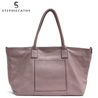 SC New Women Genuine Leather Shoulder Bags Large Tote Bag Designer Brand Luxury Leather HandBags Ladies Cow Leather Casual Bags
