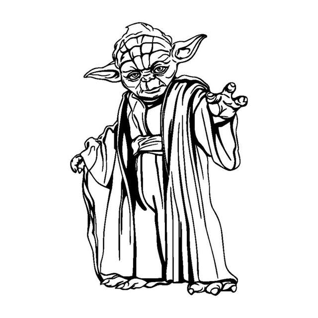 Black And White Cartoon Yoda Free Download Oasis Dl Co