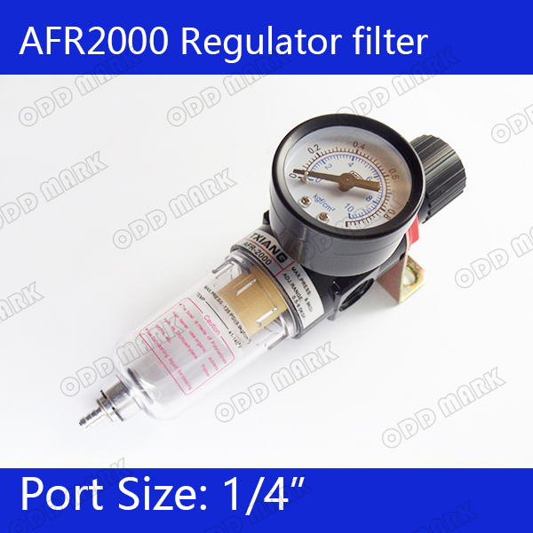 Free shipping Pneumatic Air Source Treatment Filter Regulator w Pressure Gauge AFR2000 bfr2000 air processor free shipping 1 4 pneumatic source treatment unit air filter pressure regulator