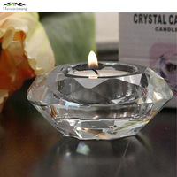 5pcs Lot New Crystal Candle Holders Creative Heart Shape Stand Pillar For Wedding Home Or Party