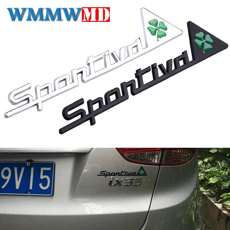 Metal Sportiva Delta Side Fender Emblem Badge Sticker fits for Alfa Romeo