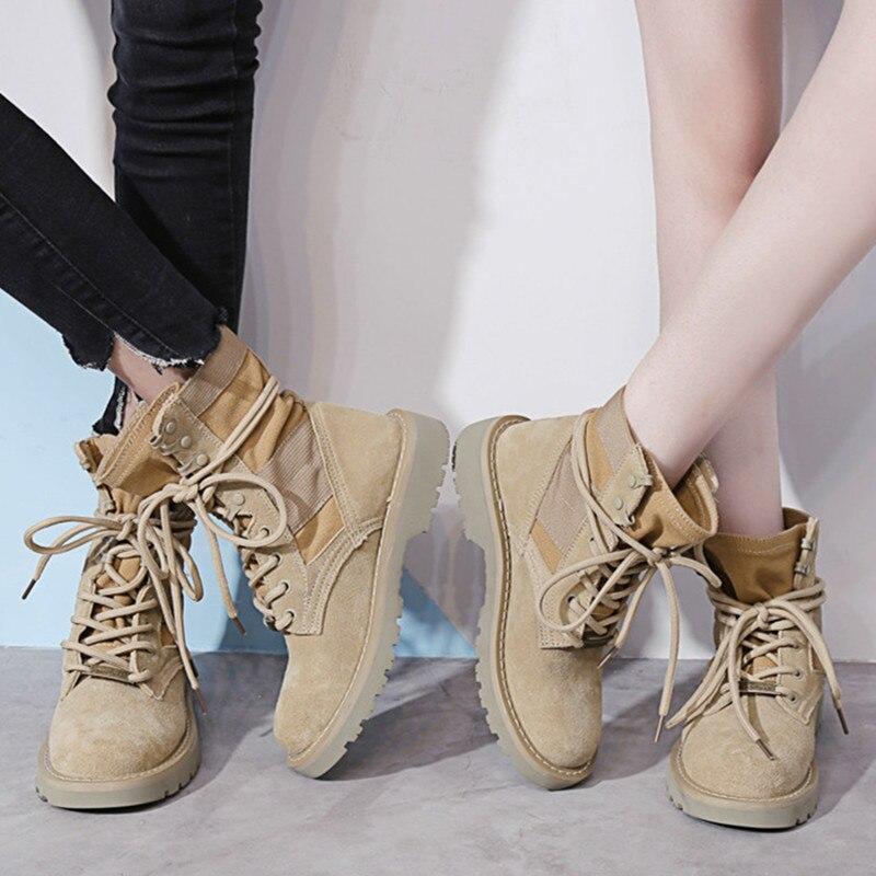Prova Perfetto Nova Primavera Autum Inverno Ama Sapatos Faux Suede Couro Das Mulheres Tornozelo Botas de Neve Lace-up Sapatos de Trabalho plus Size 34-44
