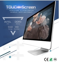 18.5 19.5 21.5 23.6 inch LED LCD TFT HD i3 i5 i7 wireless 120GB SSD Touch Screen PC Desktop all in one signage tv computer