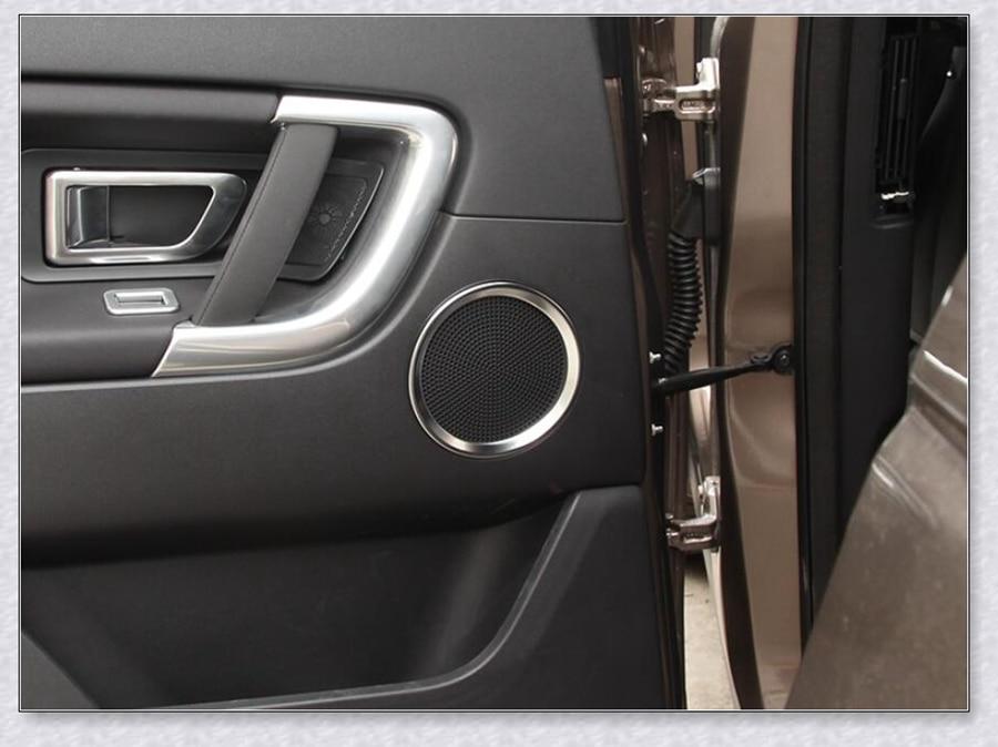 DKINCM Car ABS Matte Door Audio Speaker Cover Decorative Circle Ring Trim Frame per Land Rover Discovery Sport 2016 2017 2018