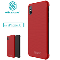 Nilkin For IPhone X Case Nillkin Tempered Magnet Hard Plastic PC Magnetic Phone Protective Back Shell
