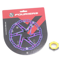Fouriers Bike Disc Brake Rotor Ti coating Center Lock Centerlock For SHIMANO 140mm 160mm 180mm 203mm Rotor Bicycle Parts