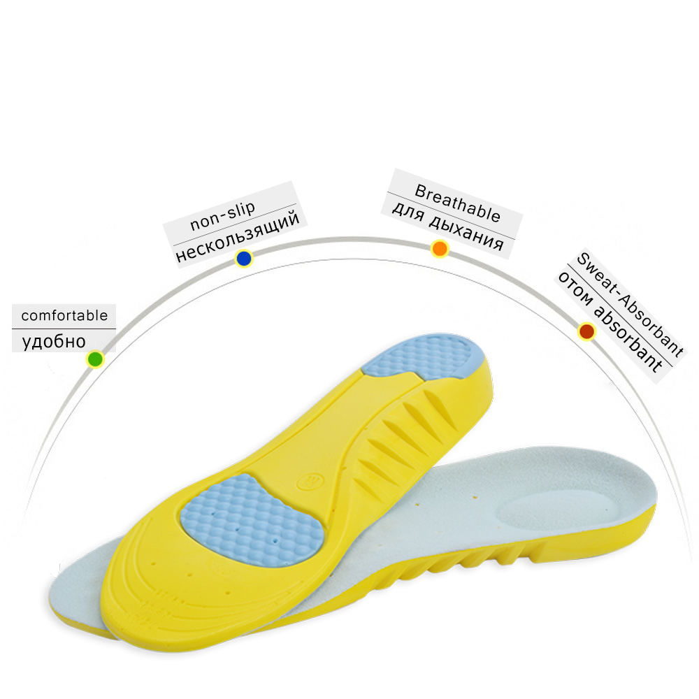 High Quality Pu Silicone Gel Sports Insoles Running Massage Insoles For Feet Pain Relief Support Shoes Insoles Insert Pads For Sale Insoles