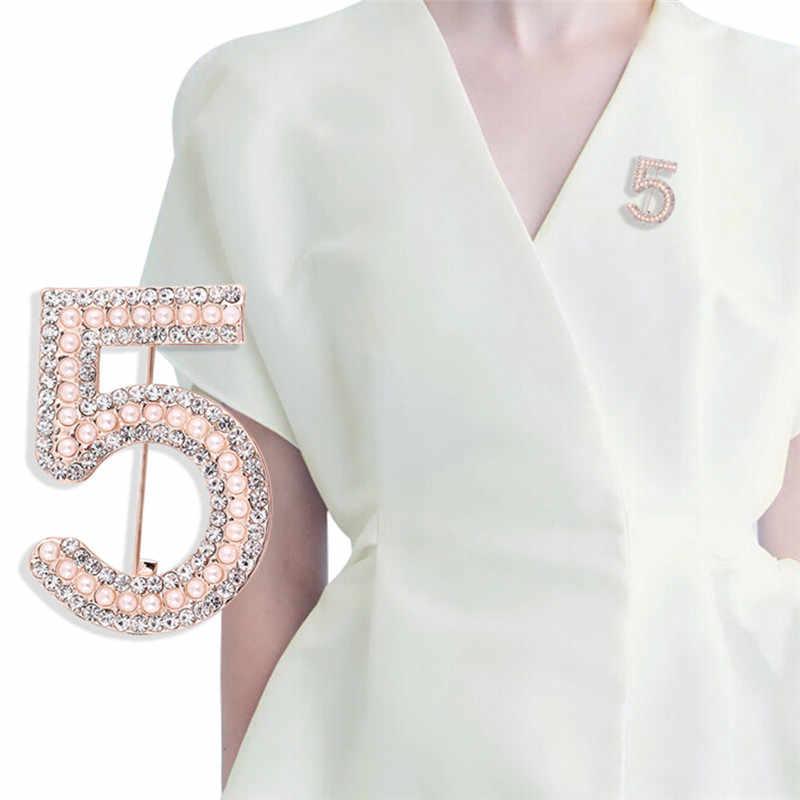 แฟชั่นช่องเข็มกลัดเข็มกลัดสำหรับผู้หญิง Broches แฟชั่นเครื่องประดับเพิร์ล Rhinestone Lapel Pins จำนวน 5 เข็มกลัดสำหรับงานแต่งงาน