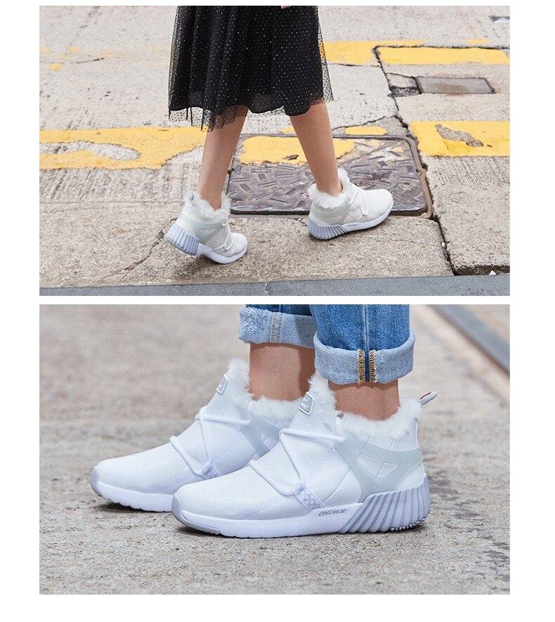 onemix New Waterproof Snow Boots Women Sneaker Men Trainers Walking Outdoor Athletic Comfortable Warm Wool Running Shoes Hotsell 16