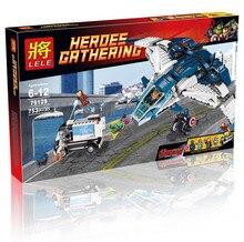 79129 строительные блоки устанавливает супергероев мстители Quinjet город чейз модель реактивных самолетов кирпич совместимость с LEGOE