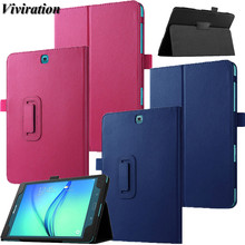 цена на Bracket Flip Stand Cover High Quality Smart Protective Shell For Samsung Galaxy Tab A SM-T555 SM-T5550 T550 T555 9.7 Tablet Case
