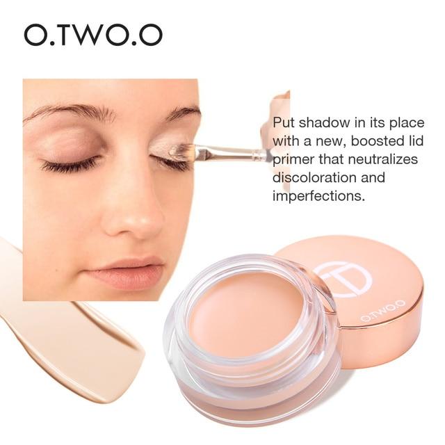 O.TWO.O 4 Colors Eyeshadow Primer Eyes Foundation Cream Long-lasting Waterproof Brightening Concealer Eyes Base Make Up Primer 2