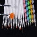 20pcs a set Nail Art Design Set Dotting Painting Drawing Polish Brush Pen Tools Nail Polish Art Brush