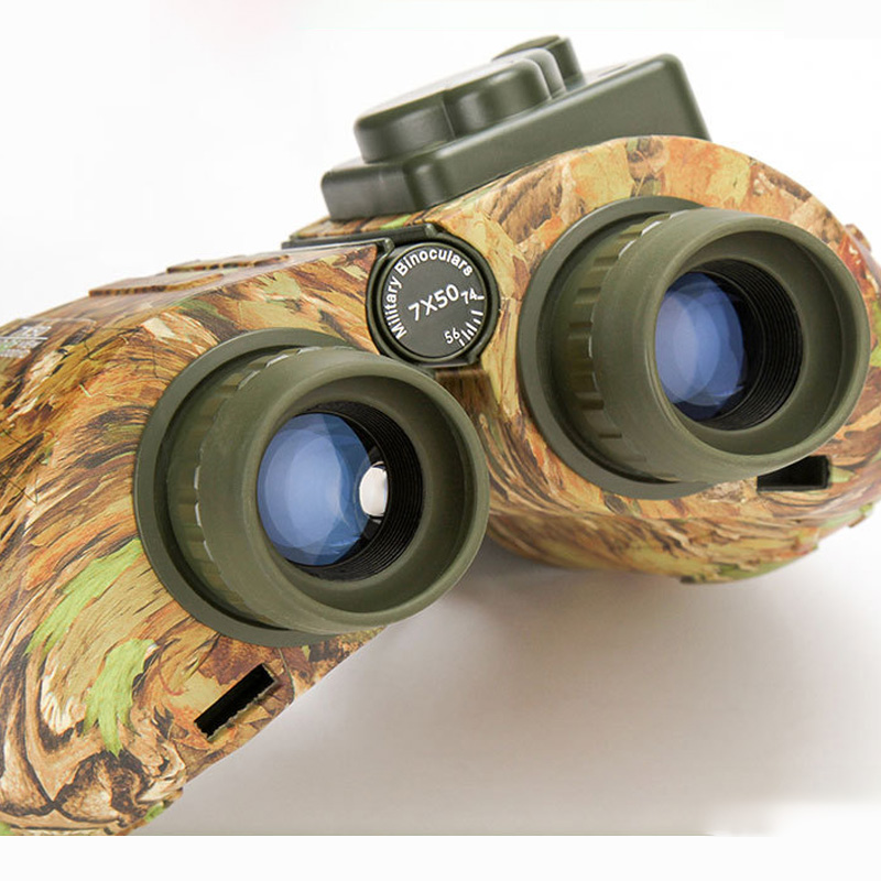 Image 2 - Wide Angle 7X50 HD Binoculars Telescope Military night vision navigation ranging compass telescope-in Monocular/Binoculars from Sports & Entertainment