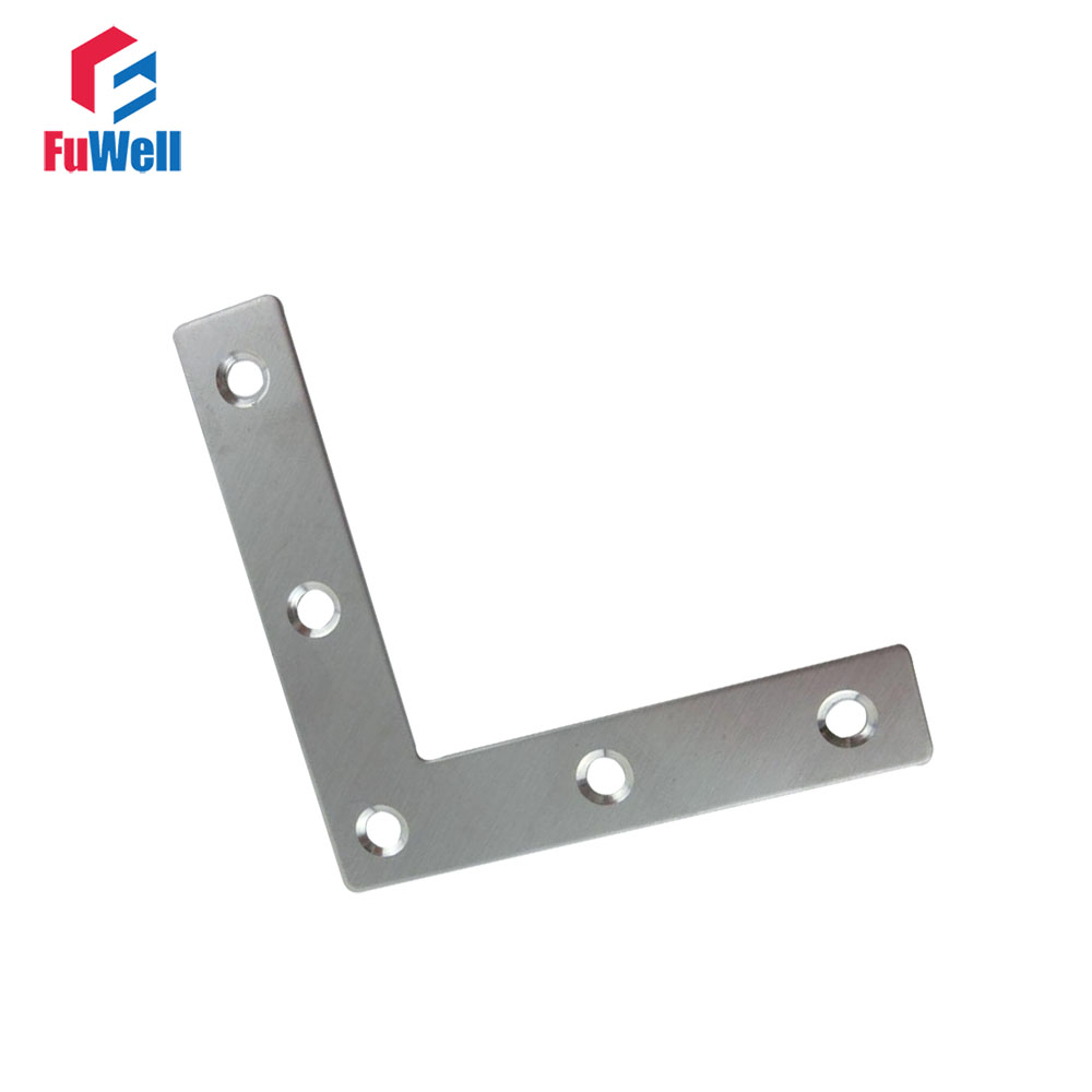 10pcs 80mm x 80mm L Type Bracket Stainless Steel 1.5mm Thickness Mending Repair Plate Connector Corner Angle Bracket 10pcs lot stainless steel flat corner brace fixed angle plate connector repair bracket 38mm 15 6mm thickness 1 73mm k160