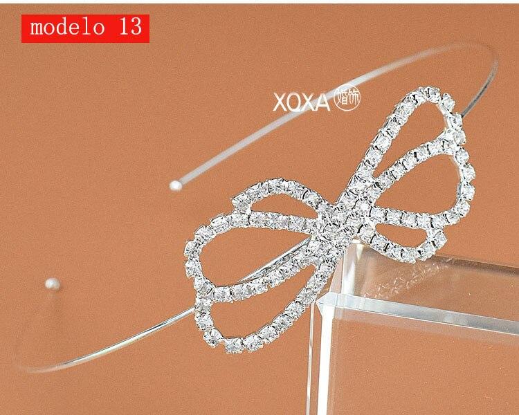 Moda feminina strass cristal cabeca bandagem no cabeca coroa Tiara de noiva de cabelo acessorios (3)