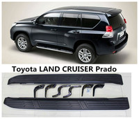 For Toyota LAND CRUISER Prado 150 2010 2018 Car Running Boards Auto Side Step Bar Pedals