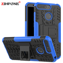 Fundas Shockproof Hybrid TPU Case sFor Huawei P20 Pro Lite P Smart Armor Stand Silicone Cover On Honor 7C 7A 10 9