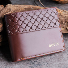 2016 Hot Sale Men Leather Card Cash Receipt Holder Organizer Bifold Wallet Purse Top Brand Penalty