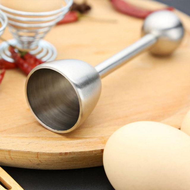 EZLIFE Egg Opener Creative DIY Egg Cutters Stainless Steel Egg Opener Raw Cracker Separator Egg Opener Kitchen Tool Accessories 1