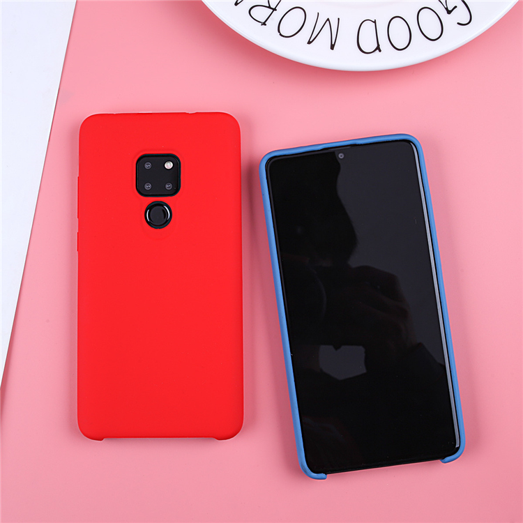 Image 2 - Original Liquid Silicone Case For Huawei P20 Lite Cover Plain Clear Bumper For Huawei Mate 20 Lite P20 Pro P30 Pro Capa Coques-in Fitted Cases from Cellphones & Telecommunications