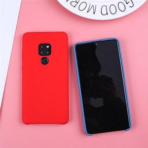Image 2 - Original Liquid Silicone Case For Huawei P20 Lite Cover Plain Clear Bumper For Huawei Mate 20 Lite P20 Pro P30 Pro Capa Coques
