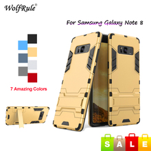 WolfRule Case For Samsung Galaxy Note 8 Case Silicon & PC Holder Anti-Knock Cover For Samsung Galaxy Note 8 Case N5100 N5110 8'' стоимость