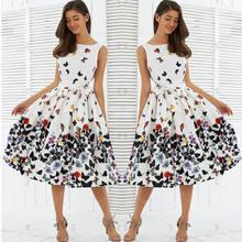 86252736c3 2018 New Fashion Hot popularne kobiety lat 50 lat 60 ROCKABILLY sukienka w  stylu Vintage zakładka huśtawka Pinup Retro gospodyni.
