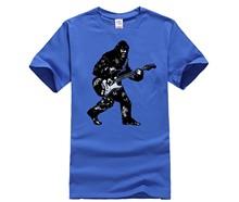 250c6903 Men's Print T-Shirt Popular Bigfoot Guitar T Shirt Sasquatch Guitar Shirts  Vintage Guitar Shirts