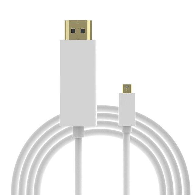 1.8 m/6ft Mannelijke Mini dp-naar Man Hdmi-kabel Thunderbolt mini displayport-naar hdmi adapter kabel voor macbook pro air voor iMac