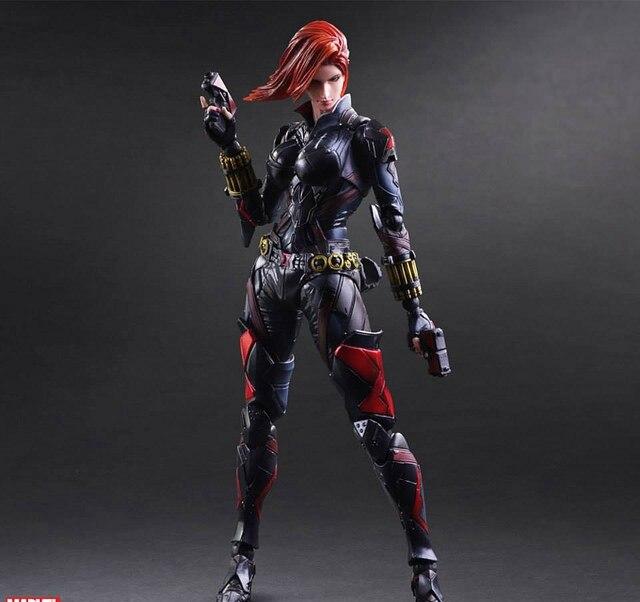 Play Arts Kai Black Widow Natasha Romanoff Super Hero Age of Ultron PA 25cm PVC Action Figure Doll Toys Kids Gift Brinquedos