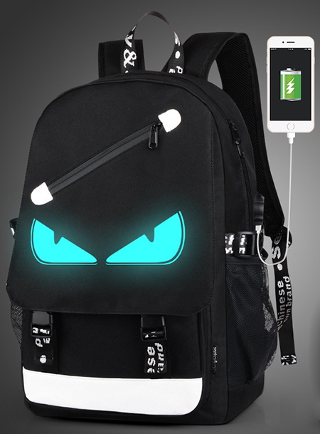 2018 fashion avant-garde multifunctional USB charging anti-theft bag travel waterproof bag ladies leisure bag 15 inch not