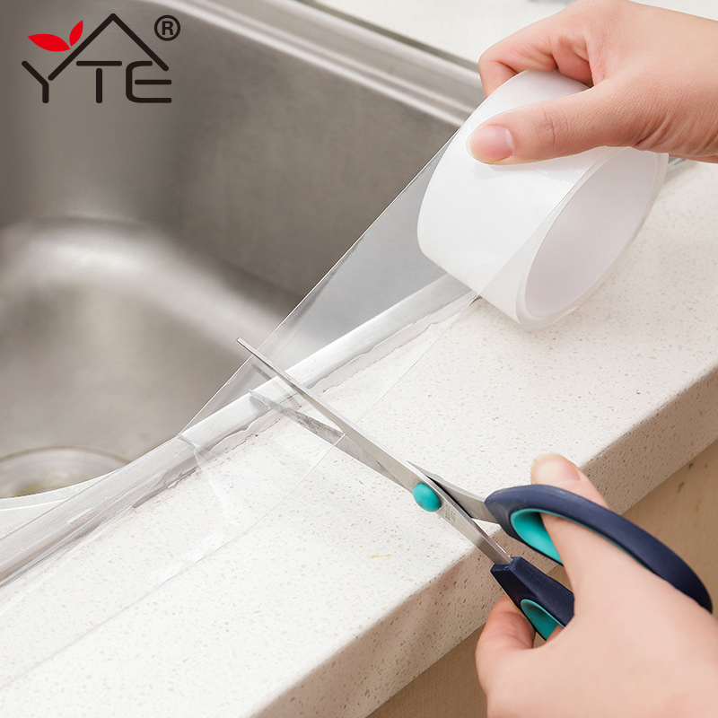 YTE 5 Size Kitchen Sink Waterproof Mildew Strong Self-adhesive Transparent Tape Bathroom Toilet Crevice Strip Self-adhesive Pool