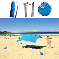 Beach Tents Awning Sun Shade Canopies, UV Protection Sun Shelter for Outdoor Camping Fishing Garden Lightweight and Portable