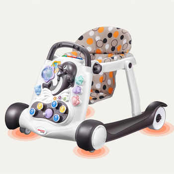 Safety baby walker anti-rollover multi-function with music baby 6/7-18 months hand push can sit children's walker 2018 hot - DISCOUNT ITEM  39% OFF All Category