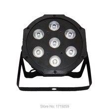 2017 LED Flat Par 7x 12W RGBW DMX Stage Lights Business Lights High Power Light with Professional for Party KTV Disco DJ