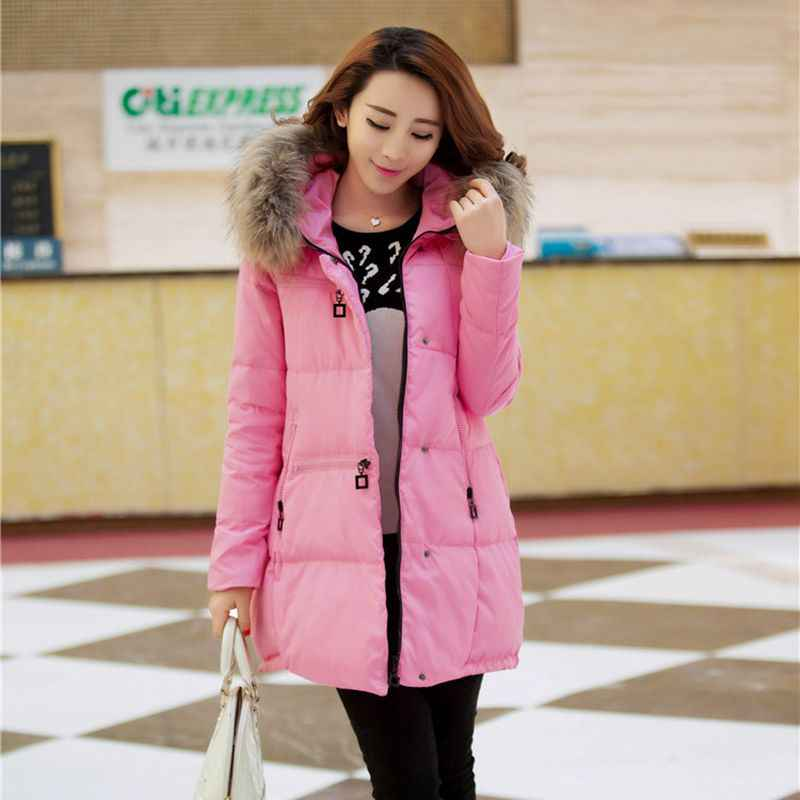 f5d82fd67fd ... New Coats & Jackets 2018 Parka Hooded Winter Jacket Women Artificial Fur  Collar Winter Coat Women ...