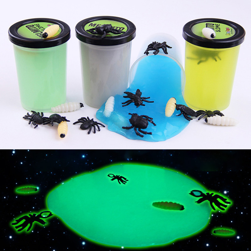 Luminous Slime Modeling Clay Light Glow in Dark Bouncing Mud Plasticine Playdough Education Novelty Creative Funny gag Toys