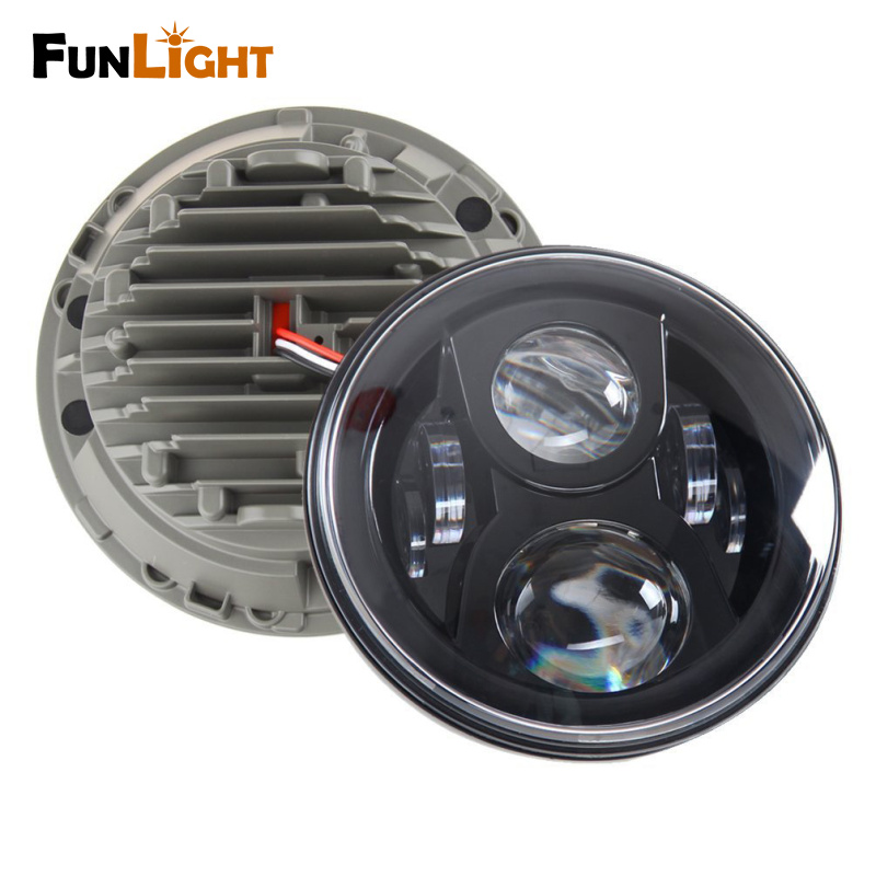 7 LED Headlights for Jeep Wrangler JK TJ LJ Driving Lamp Projector Headlight Assembly switch for jeep wrangler rocker switches for jeep wrangler jk